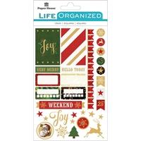 Εικόνα του Paper House Life Organized Planner Stickers - Christmas Fun