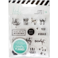 Picture of Heidi Swapp Memory Planner Clear Stamps - Weekend