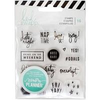 Εικόνα του Heidi Swapp Memory Planner Clear Stamps - Σφραγίδες - Weekend