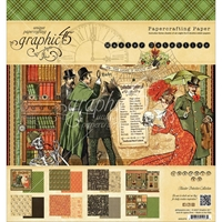 "Picture of Graphic 45 Double-Sided Paper Pad 8""X8"" - Master Detective"