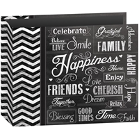 "Εικόνα του Pioneer 3-Ring Chalkboard Album 12""X12"" - Happiness"