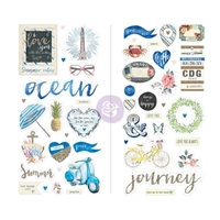 Picture of St. Tropez Chipboard Stickers