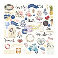 Picture of St. Tropez Ephemera Cardstock Die-Cuts