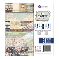"Picture of Prima Marketing Double-Sided Paper Pad 6""X6"" - St. Tropez"