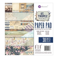 "Picture of Prima Marketing Double-Sided Paper Pad 8""X8"" - St. Tropez"