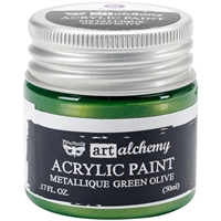Picture of Art Alchemy Acrylic Paint - Metallique Green Olive
