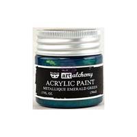 Picture of Art Alchemy Acrylic Paint - Metallique Emerald Green