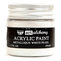 Picture of Art Alchemy Acrylic Paint - Metallique White Pearl