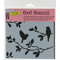 Picture of Crafter's Workshop Template 15x15 - Brazen StarBirds On Branches