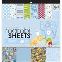 """Εικόνα του Mambi Single-Sided Paper Pad 12""""X12"""" - Oh Baby Boy"""
