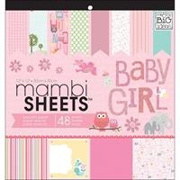 """Εικόνα του Mambi Single-Sided Paper Pad 12""""X12"""" - Oh Baby Girl"""