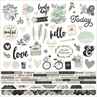"""Picture of Beautiful Cardstock Stickers 12""""X12"""" - Combo"""