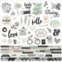 """Εικόνα του Beautiful Cardstock Stickers 12""""X12"""" - Combo"""