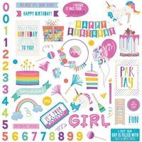 "Picture of Cake Rainbow Sprinkles Stickers 12""X12"" - Elements"
