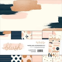 "Picture of My Mind's Eye Paper & Accessories Kit 12""X12"" - Blush"
