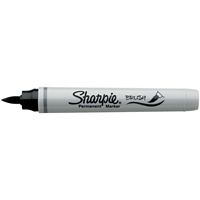 Picture of Sharpie Brush Tip Permanent Marker - Black