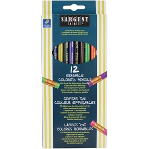 Picture of Χρωματιστά μολύβια που σβήνουν - Σετ 12τμχ