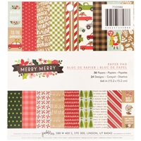 "Εικόνα του Pebbles Single-Sided Paper Pad 6""X6"" - Merry Merry"