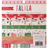 "Εικόνα του Crate Paper Single-Sided Paper Pad 6""X6"" - Fa La La"
