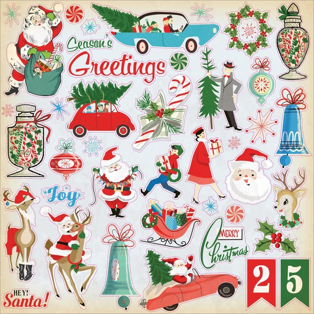 A Very Merry Borik�n Christmas: A Very Merry Christmas Cardstock Stickers -ScrapsnPieces