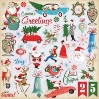 Εικόνα του A Very Merry Christmas Cardstock Stickers