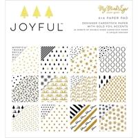 """Εικόνα του Joyful Gold Double-Sided Paper Pad 6""""X6"""""""