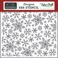 Picture of Echo Park Stencil 15X15 - Snowflake Magic