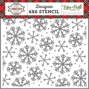 Picture of Echo Park Stencil 15X15 - Sparkling Snowflake