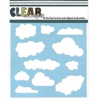 Εικόνα του Clear Scraps Stencil  - Clouds