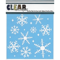Picture of Clear Scraps Stencil  - Snowflakes