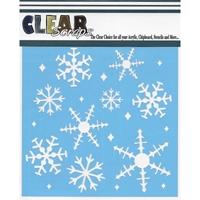 Εικόνα του Clear Scraps Stencil  - Snowflakes