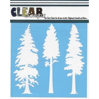 Picture of Clear Scraps Stencil  - Pine Trees