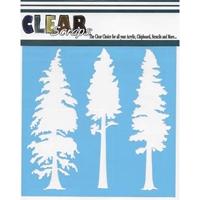 Εικόνα του Clear Scraps Stencil  - Pine Trees