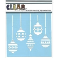 Εικόνα του Clear Scraps Stencil  - XMas Bulbs