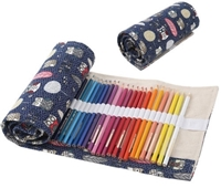 Picture of Roll up Canvas Pencil Case - Owl