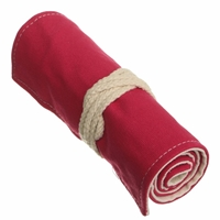 Picture of Roll up Canvas Pencil Case - Red