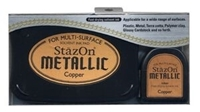 Εικόνα του Μελάνι StazOn Metallic Solvent Ink Kit - Copper