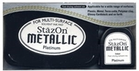 Εικόνα του Μελάνι StazOn Metallic Solvent Ink Kit - Platinum