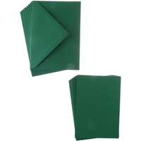 Picture of Sweet Dixie Card and Envelope Packs A6 - Dark Green