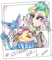 Picture of Lily Mac Clear Stamp - Ice Cream For 2