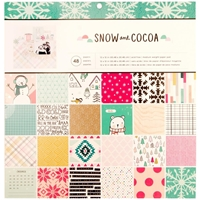 """Picture of Crate Paper Paper Pad 12""""X12"""" - Snow & Cocoa"""