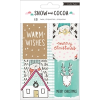 Picture of Crate Paper Snow & Cocoa Cardstock Tags