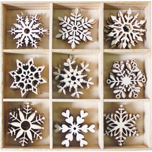Picture of BoBunny Essentials Wooden Shapes - Snowflakes