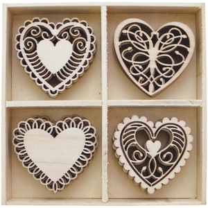 Picture of BoBunny Essentials Wooden Shapes - Hearts