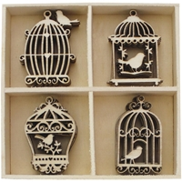 Picture of BoBunny Essentials Wooden Shapes - Birdcages