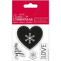 Picture of Papermania Create Christmas Small Clear Stamps - Nordic Heart