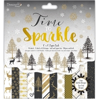 """Picture of Dovecraft 8""""X8"""" Paper Pack - Time To Sparkle"""