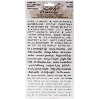 Picture of Idea-Ology Remnant Rubs Rub-Ons - Christmas Words
