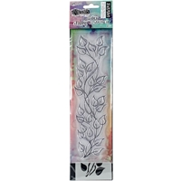 "Εικόνα του Dylusions Clear Stamp & Stencil Set 9"" - Leaf"
