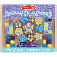 Picture of Wooden Bead Set - Sparkling Flowers
